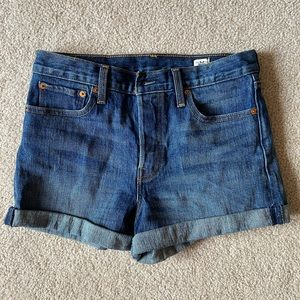 High waisted Levi's denim shorts